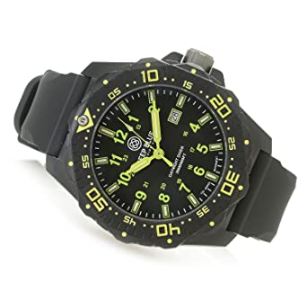 642355109e2 Deep Blue 46mm Daynight Quartz Sapphire Crystal Tritium Accented Dial  Silicone Strap Watch  Amazon.co.uk  Watches