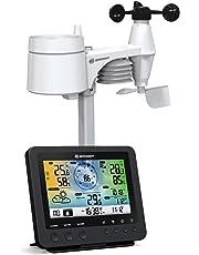 BRESSER Station météo Couleur WiFi avec capteur extérieur 5-en-1
