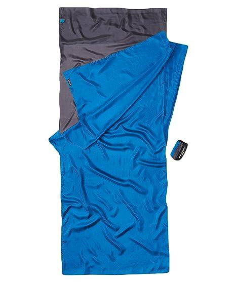 Cocoon TravelSheet - Sacos de dormir - Silk gris/azul 2018