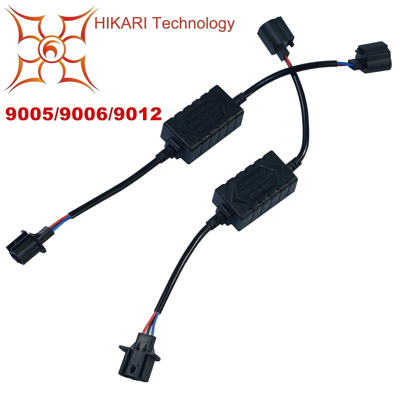 HIKARI Pair LED Conversion Kit Headlight Canbus Error Free Anti Flickering Resistor Decoder-H11