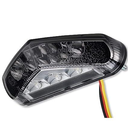 LED Motorrad universal Rücklicht Triangle Rückleuchte Heckleuchte schwarz smoke getönt