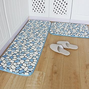 Cucina tappetini/Lungo scivolo tappetini da bagno assorbente/Mat ...