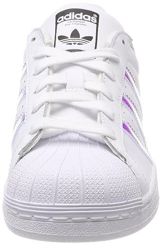 hot sale online 33b08 d6746 Amazon.com adidas Originals Superstar Shoes 6.5 B(M) US Women  5.5 D(M) US  WhiteMetallic Silver Shoes