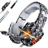 PS4 Headset Gaming Hoofdtelefoon voor PC Headsets met microfoon Stereo Sound Ademhaling RGB Licht Verstelbare Microfoon…