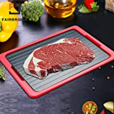 Fairbridge poc-466-yqg POC001 Metal Thawing Plate, Fast Tray-the Safest Way to Defrost Meat Or Frozen Food Quickly without Electricity, Microwave, Hot Water Or an, L