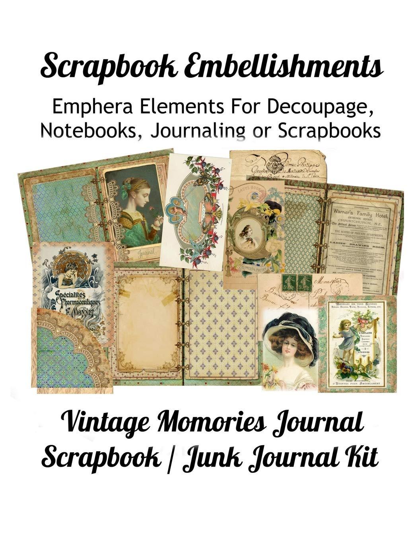 Junk Journal Scrapbook Junk Journal Kit Embellishments Journal Embellishments Junk Journal Embellishments Paper Ephemera Paper Pack