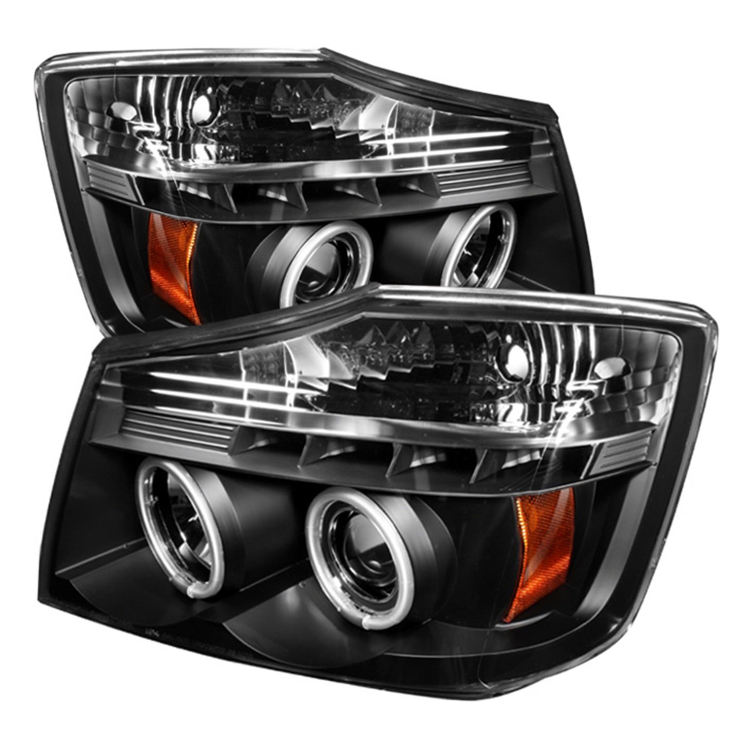 Amazon.com: Spyder Auto Nissan Titan/Nissan Armada Black CCFL LED Projector Headlight: Automotive