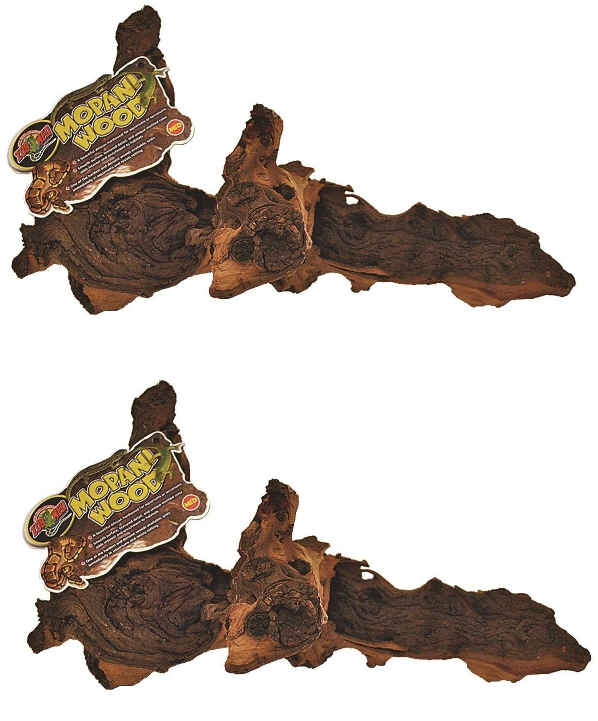 (2 Pack) Zoo Med Reptile Mopani Wood for Aquariums, Size: Medium (2