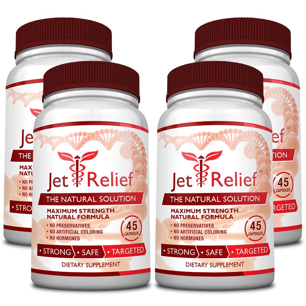 JetRelief - The #1 Choice for Jet Lag Relief - 100% Pure & Natural with NO MELATONIN- Helps Regulate Circadian Rhythm - With DMAE, Vitamin B and Magnesium - 100% Money Back - 6 Bottles Supply by JetRelief (Image #6)