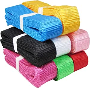 """(8x1yd 1.25"""" (30mm) Combo) - HipGirl Polypropylene Polypro Webbing for DIY Key Chain Fob, Yoga Strap, Tote, Backpack, Chair (8x1yd 1.25"""" (30mm) Combo)"""