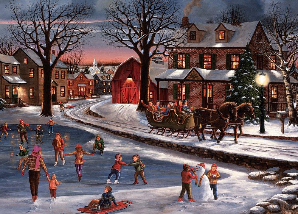 Con cuore di Natale 'Christmas Cards (15 Cards-Buste quadrate, 16 cm, in alluminio Vermont Christmas Company
