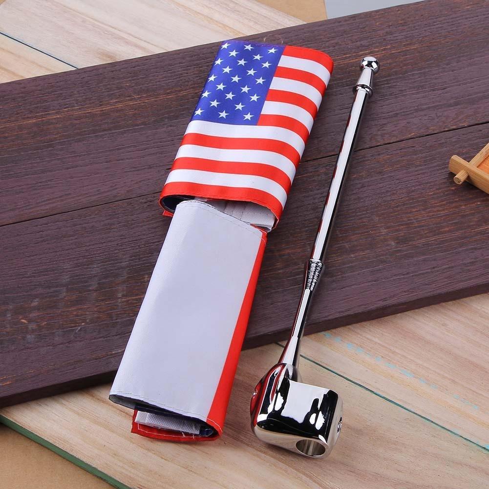 per moto Honda Goldwing GL 1800 Ahomi portapacchi posteriore bandiera USA Flag Pole