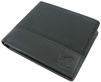 b1422fece5d91 JLK Wallet - Herren Geldbörse - Echtleder Portmonee - RFID Blocker  Portemonnaie - Geldbeutel Männer schwarz