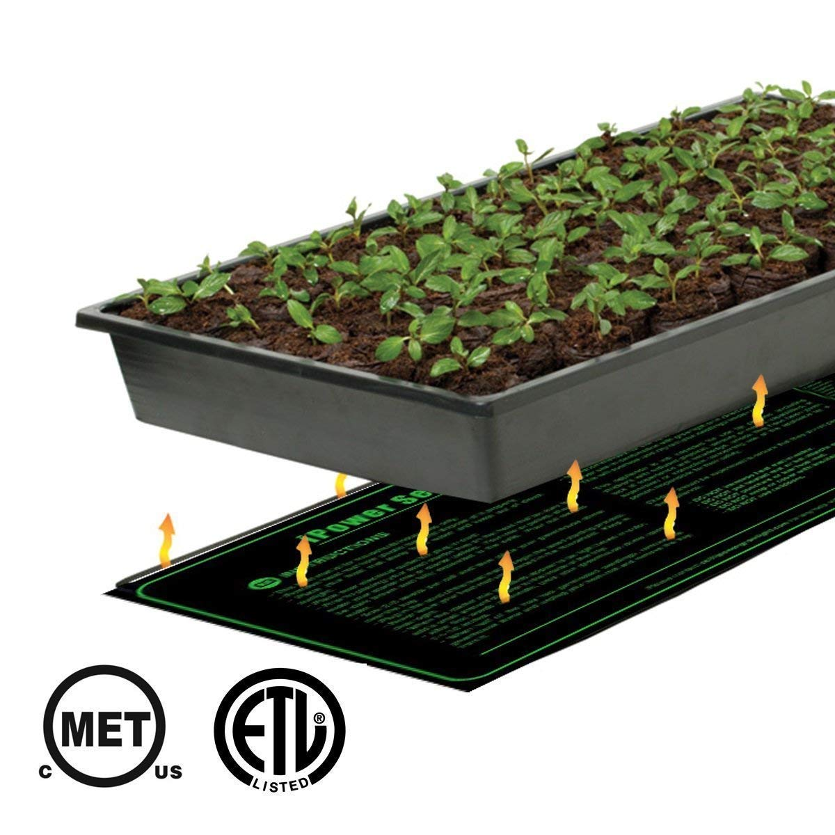 iPower 2 Pack 10'' x 20.5'' Warm Hydroponic Seedling Heat Mat and Digital Thermostat Control Combo Set for Seed Germination, Black by iPower (Image #6)