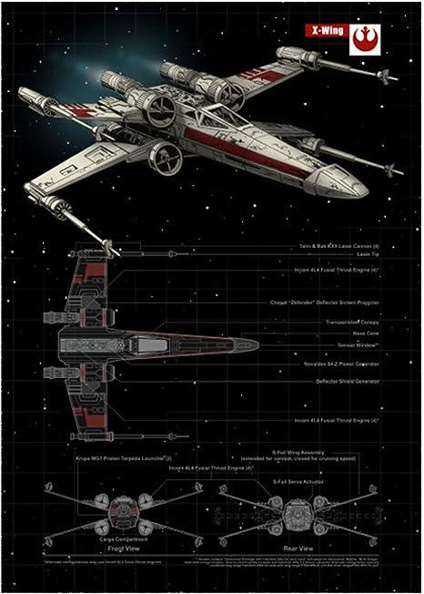GWD CONCEPT Mural de X-Wing del póster de Star Wars con imán Adhesivo 45x32cm: Amazon.es: Juguetes y juegos