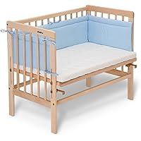 Lit d'appoint naturel Basic FabiMax avec matelas et tour de lit