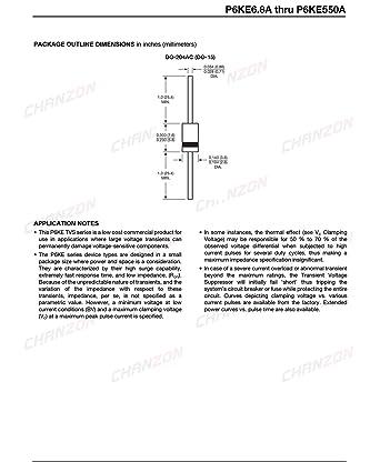 Transient Voltage Suppressors 15V 600 Watts TVS Diodes 50 pieces