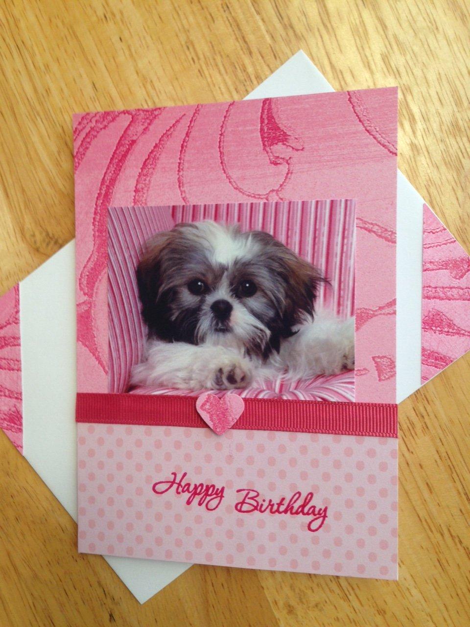 SHIH TZU puppy GREETINGS dog Card handmade card Happy Birthday ...