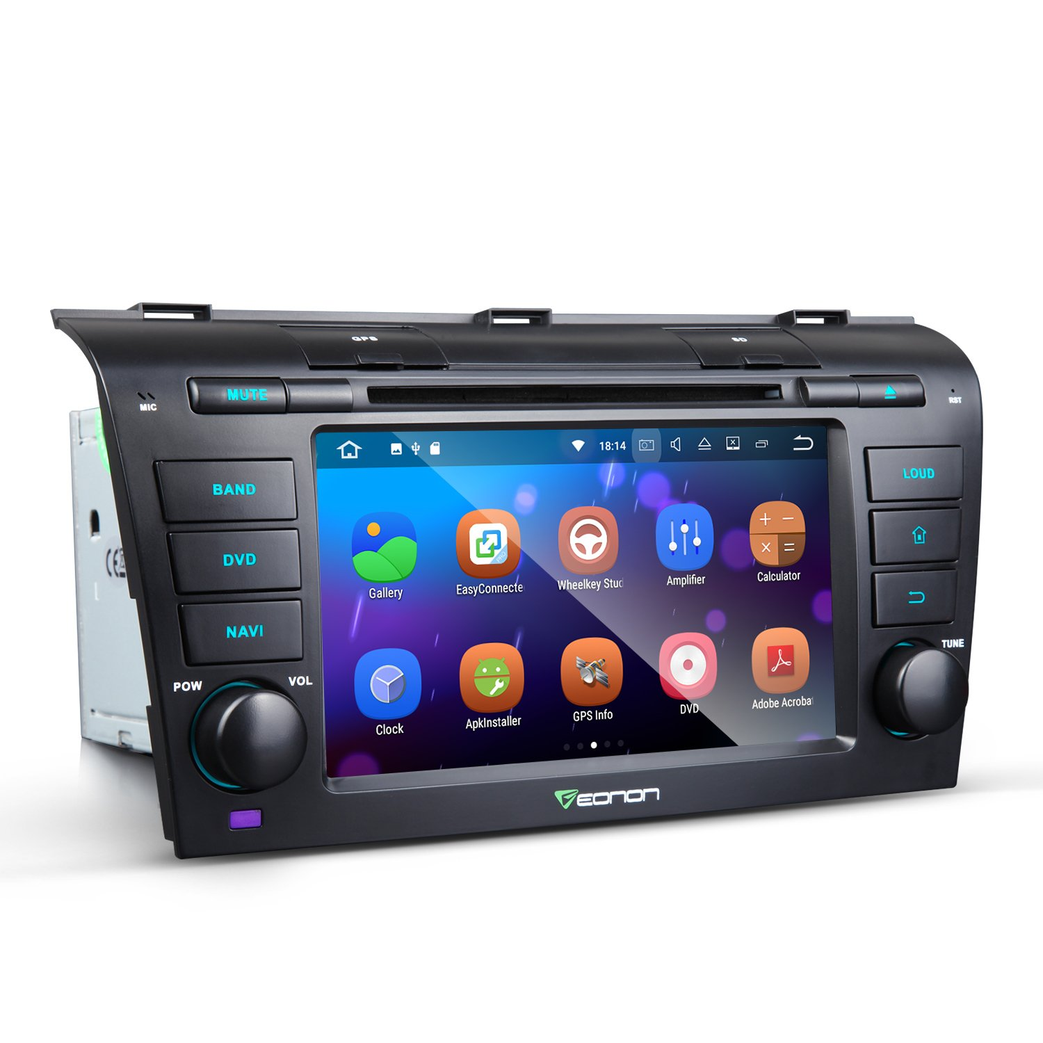 Eonon GA8151 Car Radio Stereo Audio 7 Inch Android 7.1 for Mazda Speed 3 2004,2005,2006,2007,2008 and 2009 Quad Core Car GPS Navigation In Dash Touch Screen with Bluetooth