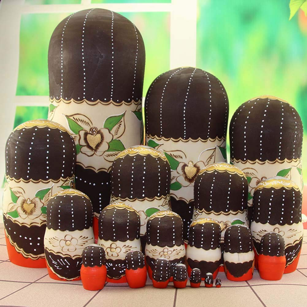 Nesting Dolls for Kids Matryoshka Dolls Blank, 20 Pieces for Kids Toy Birthday Home Decoration Parent-Child Time by DADAO (Image #3)