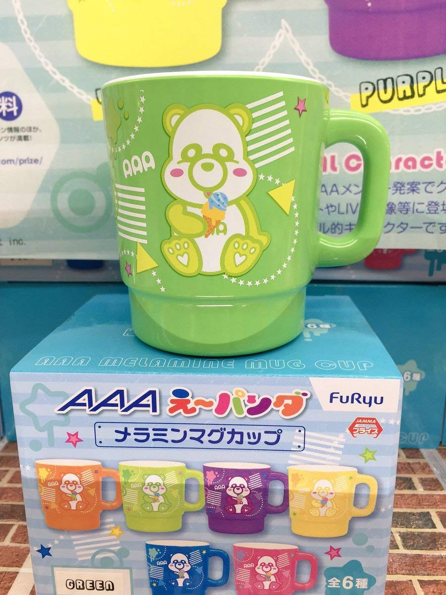 AAA え パンダ メラミンマグカップ コップ グリーン 浦田直也 非売品   B07QVDRW7Y