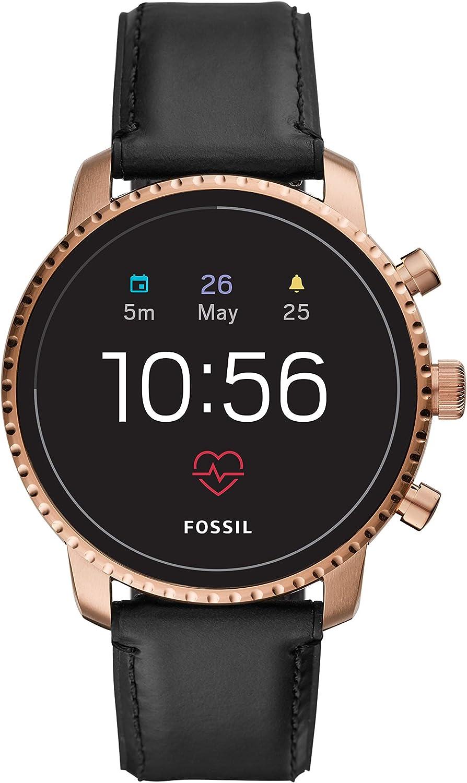 Fossil Smartwatch Pantalla táctil para Hombre de Connected con Correa en Piel FTW4017