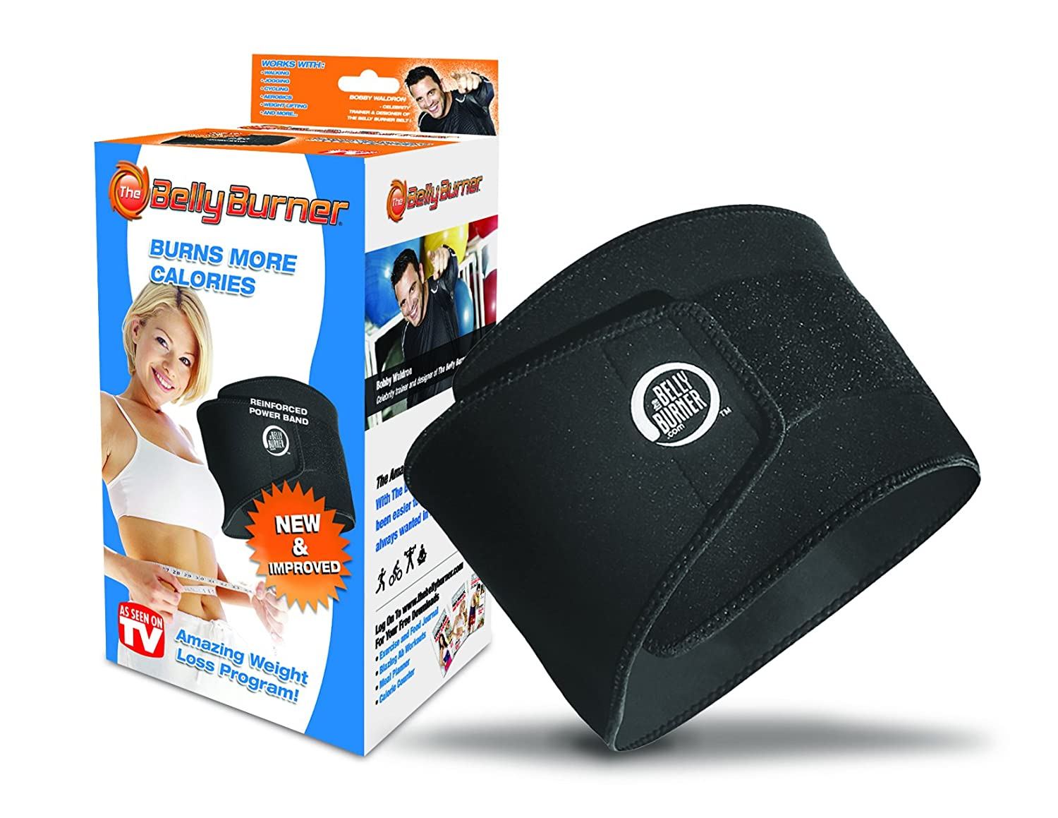 Amazon Com Belly Burner Weight Loss Belt Black One Size Fits All