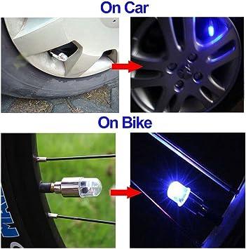 Insifre auto rotella Lights 4pcs Car Wheel tire Air valvola della luce con sensore luce colorata LED pneumatici gas ugello Cap sensori di movimento per auto moto bici