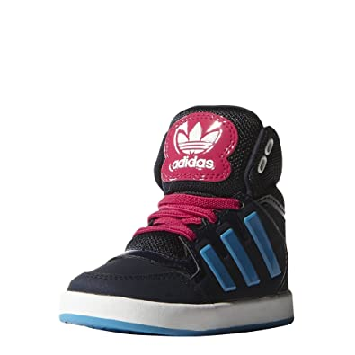 sale retailer 3514e ee2f9 Adidas Dropstep EL Infant M17211 Hi Top Baskets Bleu Marine Enfants JR BNIB  Neuf - Bleu
