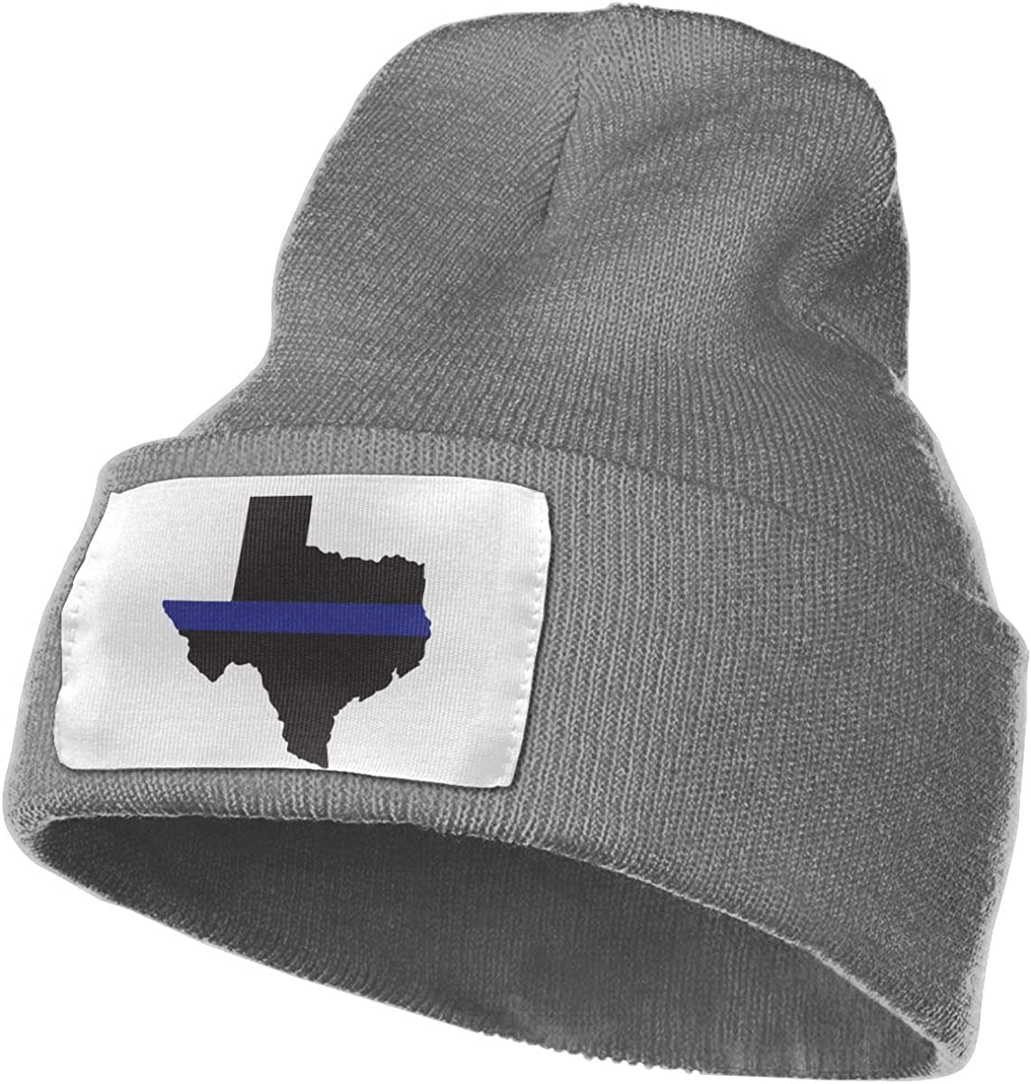 Adults Texas Thin Blue Line Elastic Knitted Beanie Cap Winter Warm Skull Hats