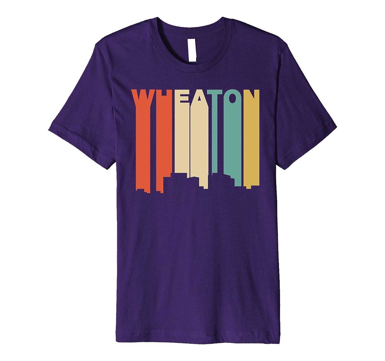 Retro 1970s Style Wheaton Maryland Skyline T-Shirt