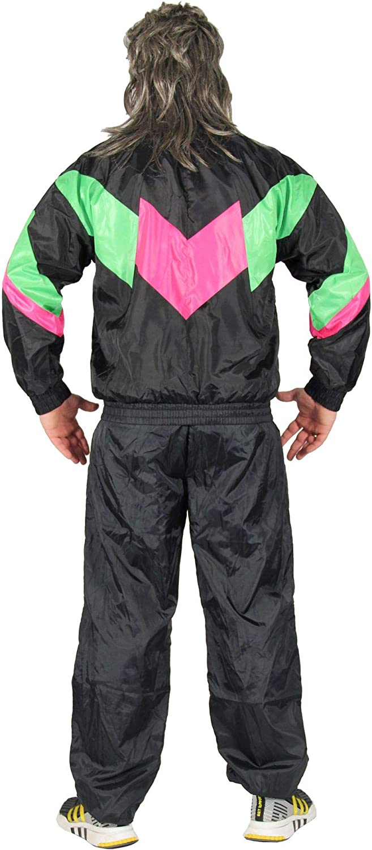Negro 80s Disfraz para chándal Assi Traje Assi S-XXXL, Talla ...