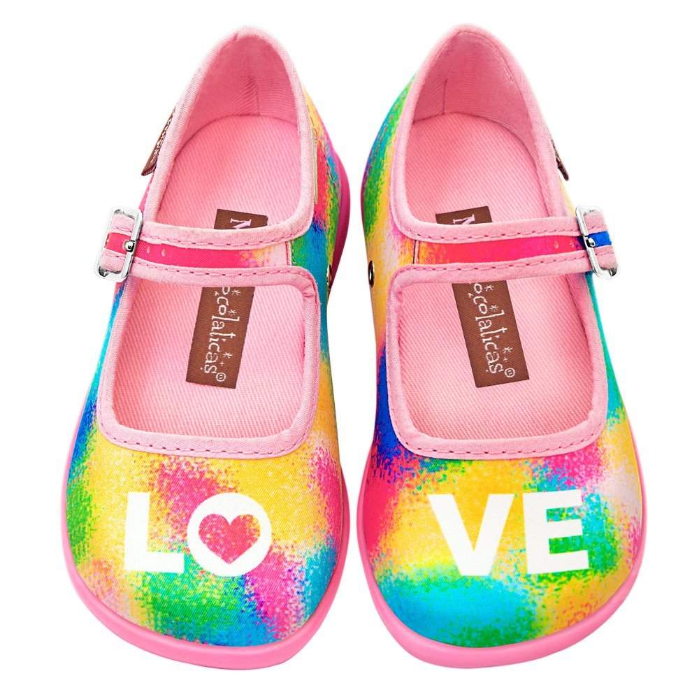 Hot Chocolate Design Mini Chocolaticas Love Girls Mary Jane Flat Multicoloured HCD 30