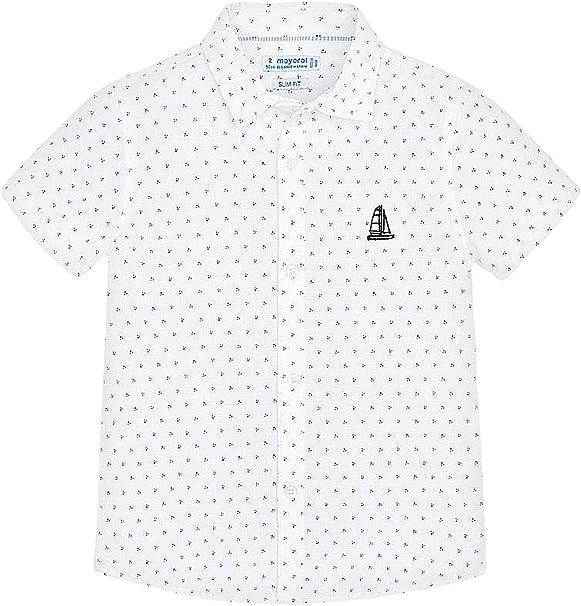 Mayoral, Camisa para niño - 3164, Blanco: Amazon.es: Ropa y accesorios