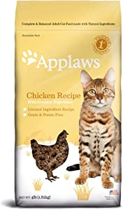 Applaws Chicken Grain Free Dry Cat Food, 4 lbs.