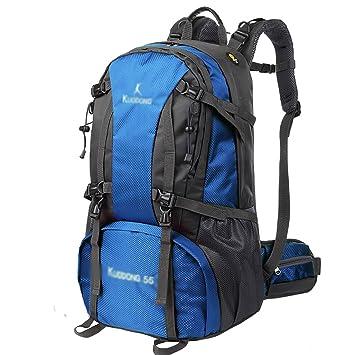 mochilas montaña Bolso de alpinismo para camping al aire libre 55L Hombres y mujeres viajan al ...