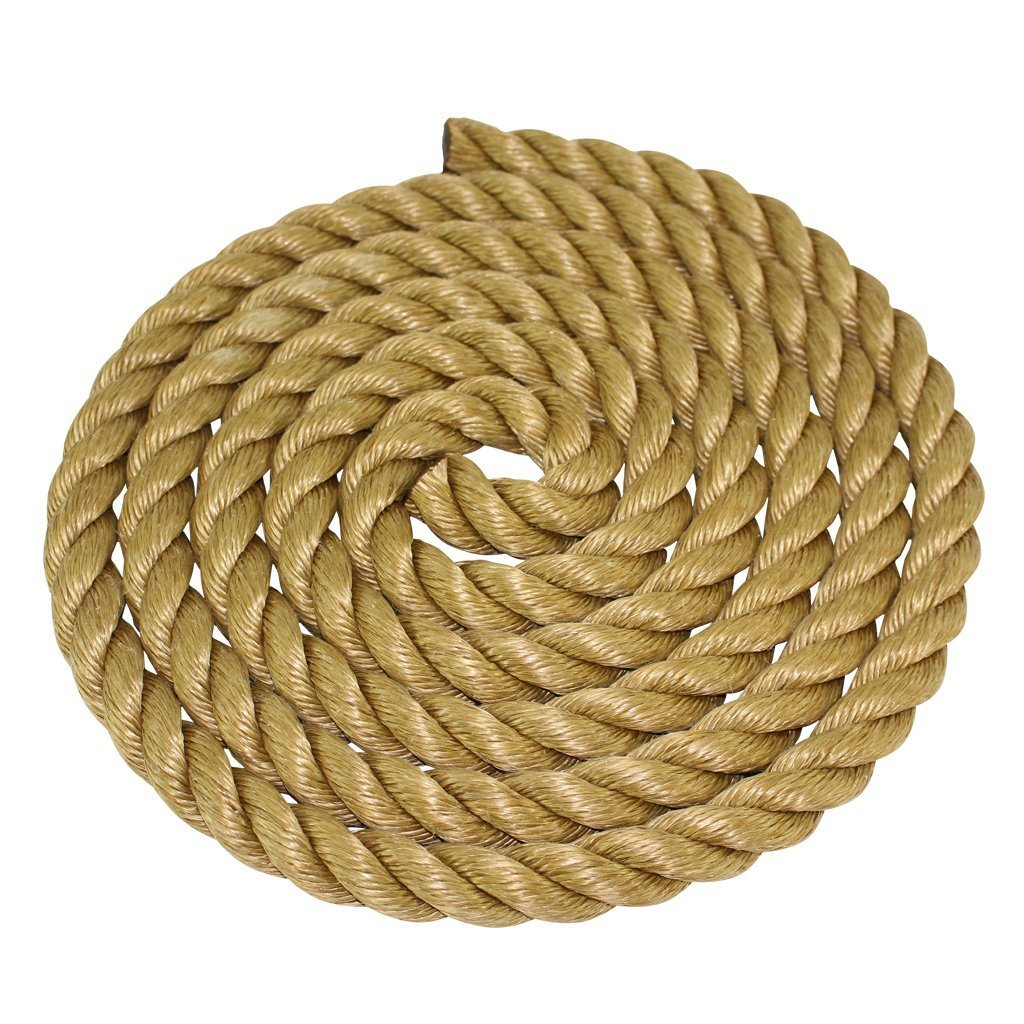 Tie Downs UV SGT KNOTS ProManila Rope Marine 1//4 inch - 2 inch Moisture Projects 10 ft - 600 ft and Chemical Resistant Indoor//Outdoor UnManila Tan Twisted 3 Strand Polypropylene Cord