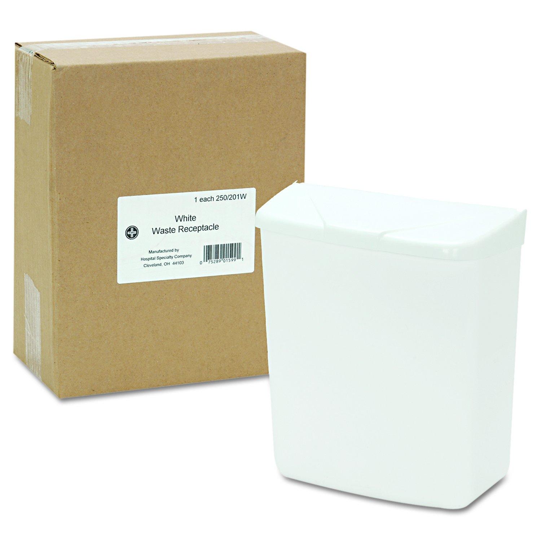 Hospeco Feminine Hygiene Receptacle, White ABS Plastic, 250-201W by Hospeco (Image #4)