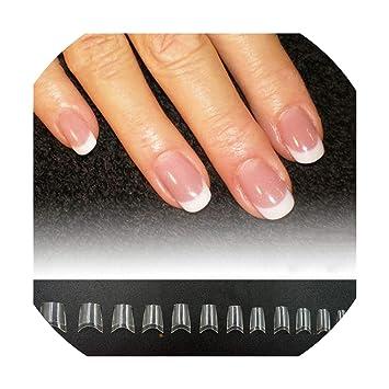 Amazon.com: Punta de uñas postizas de color blanco ...