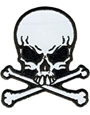 "Hot Leathers Skull & Crossbones Reflective Patch (3"" Width x 3"" Height)"