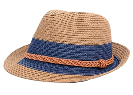 e12a60a7b9901 Image Unavailable. Image not available for. Color  East Majik Straw Homburg  Hat Fedora Hat for Women Girls