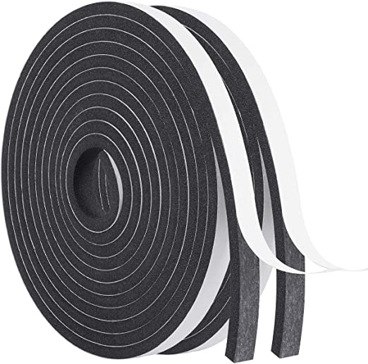 Weather Strip-2 Rolls, 1/2 Inch Wide X 1/4 Inch Thick Foam Seal Tape High Density Weatherstripping Self Adhesive Door Insulation Foam Rubber Seal Strip Total 26 Feet Long(13ft x 2 Rolls): Amazon.com: Industrial & Scientific