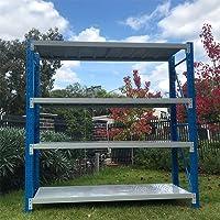 2Mx2M Metal Warehouse Racking Storage Garage Shelving Steel Shelf 800kg Shelves (Blue + Grey)