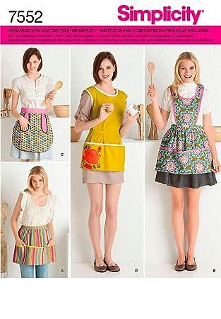 Simplicity S7552.A Patron de Couture Tablier Cuisine: Amazon.fr ...
