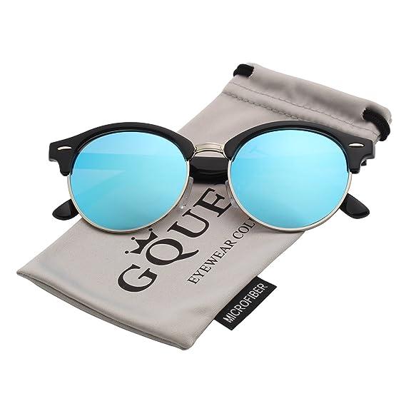 GQUEEN Bocina enculado Medio marco gafas de sol polarizadas GQ51: Amazon.es: Ropa y accesorios