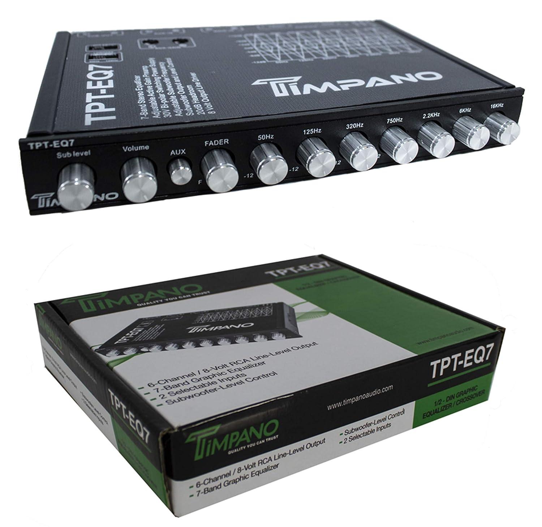 Timpano TPT-EQ7 7 Band Graphic Equalizer Subwoofer-Level Control EQ 7V Driver