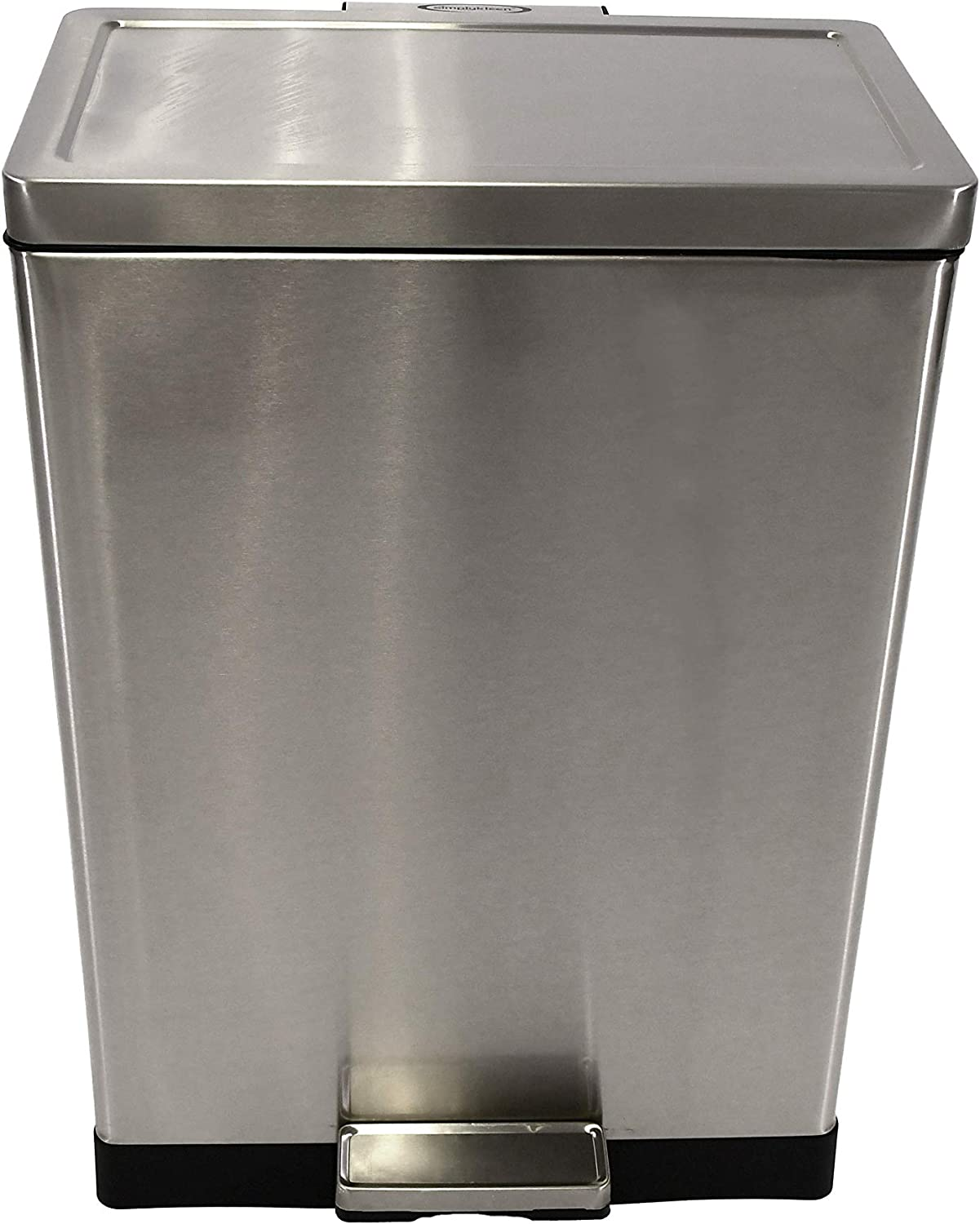 SIMPLYKLEEN Kleen-Fit 40 Liter Rectangle Stainless Steel Trash Can for Kitchen, Bathroom, OR Home - 10.5 Gallon Waste Bin - Fits 13 Gallon Garbage Bags