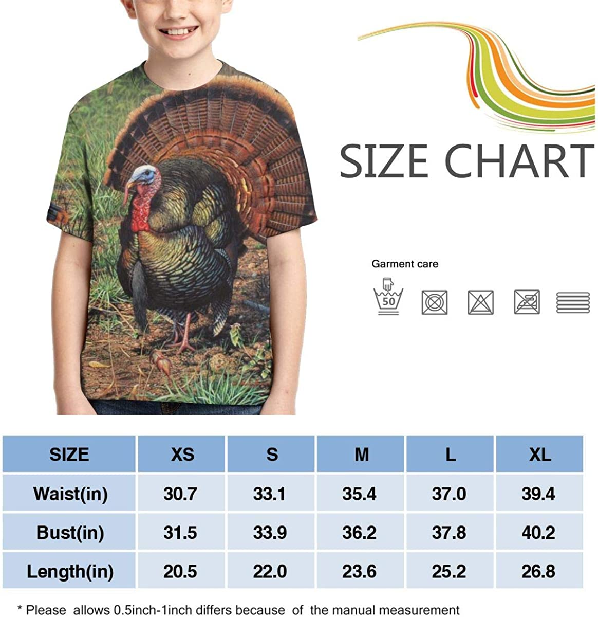 Grounded in Tradition Full Printed Short Sleeve Crew Neck Tees Summer Tops for Boys Youth T-Shirts