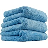 Chemical Guys MIC35003 Happy Ending Edgeless Microfiber Towel, Blue (16 in. x 16 in.) (Pack of 3)