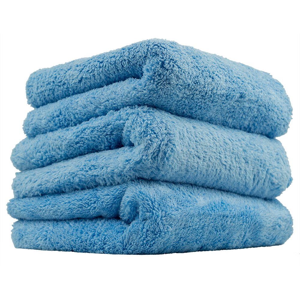 Chemical Guys Mic35003  Happy End Edgeless Serviette en Microfibre, Bleu (16  in. X 16  en.) (Lot de 3) Bleu (16 in. X 16 en.) (Lot de 3)